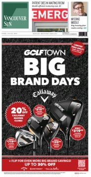 Read full digital edition of Vancouver Sun newspaper from Canada