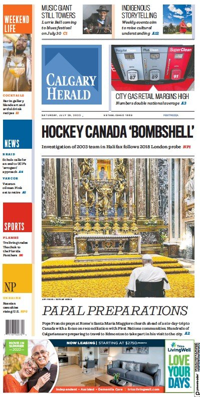 Read full digital edition of Calgary Herald newspaper from Canada