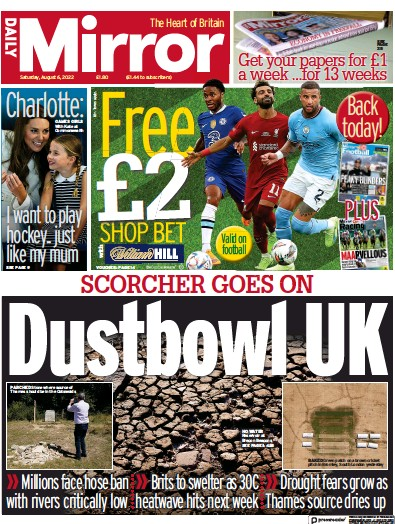 Read full digital edition of Daily Mirror newspaper from UK