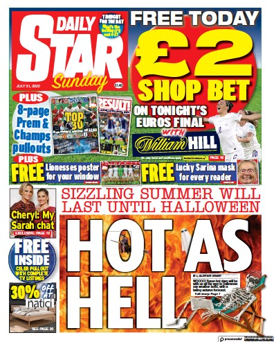 Read full digital edition of Daily Star Sunday newspaper from UK