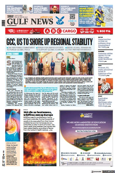 Read full digital edition of Gulf News newspaper from United Arab Emirates