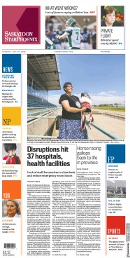 Read full digital edition of The StarPhoenix  Saskatoon newspaper from Canada