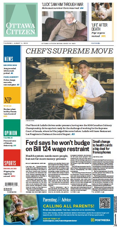 Read full digital edition of Ottawa Citizen newspaper from Canada