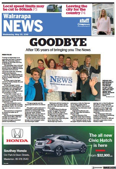 Read full digital edition of Wairarapa News newspaper from New Zealand