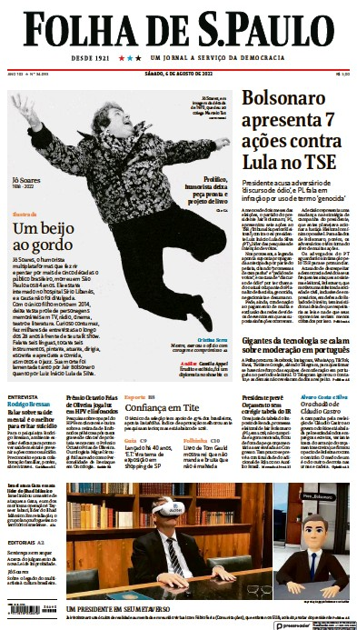 Read full digital edition of Folha De S.Paulo newspaper from Brazil