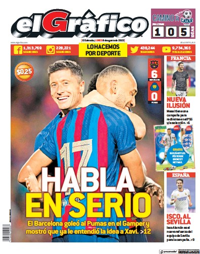 Read full digital edition of El Grafico newspaper from El Salvador