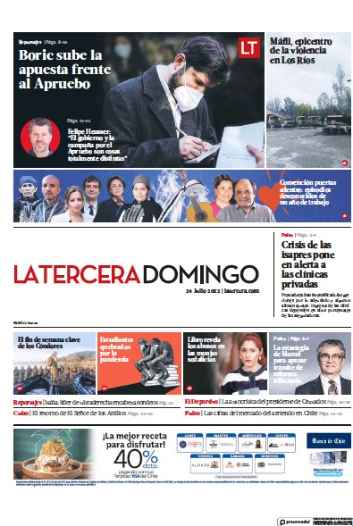 Read full digital edition of La Tercera newspaper from Chile
