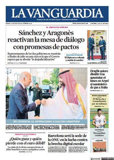 Read full digital edition of La Vanguardia newspaper from Spain