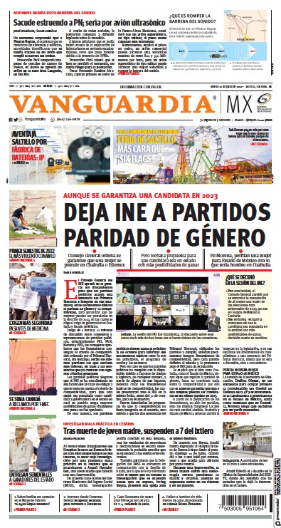 Read full digital edition of Vanguardia newspaper from Mexico
