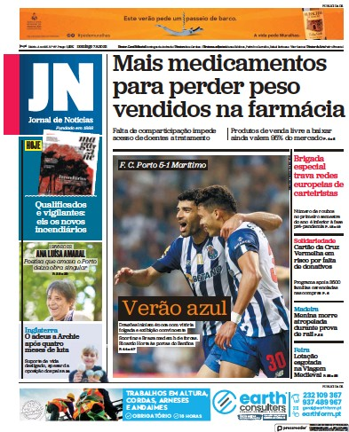 Read full digital edition of Jornal de Noticias newspaper from Portugal