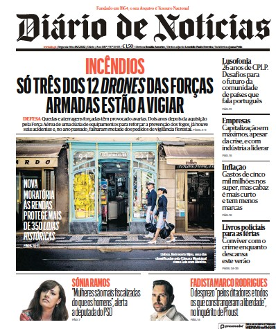 Read full digital edition of Diario de Noticias newspaper from Portugal