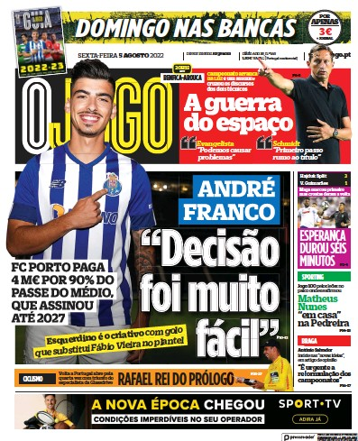 Read full digital edition of O Jogo newspaper from Portugal