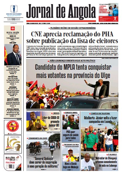 Angolan Newspaper Front Pages | Paperboy Online Newspapers