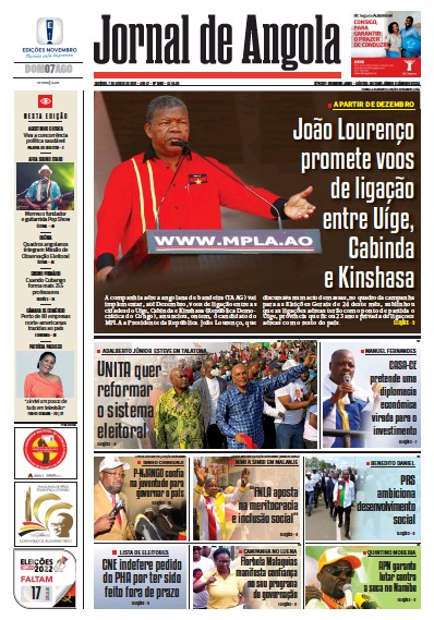 Read full digital edition of Jornal de Angola newspaper from Angola