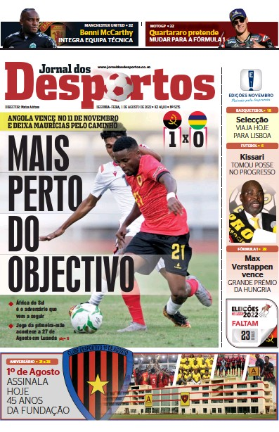 Read full digital edition of Jornal dos Desportos newspaper from Angola