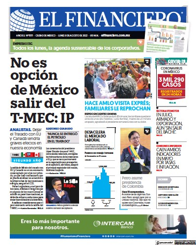 Read full digital edition of El Financiero newspaper from Mexico