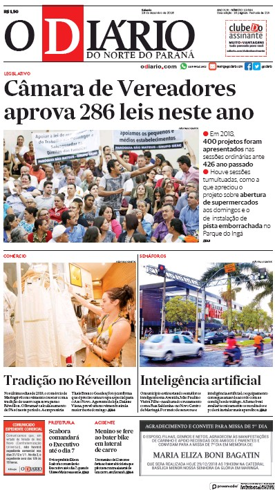 Read full digital edition of O Diario do Norte do Parana newspaper from Brazil