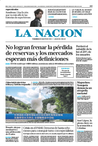 Read full digital edition of La Nacion (Combined) newspaper from Argentina