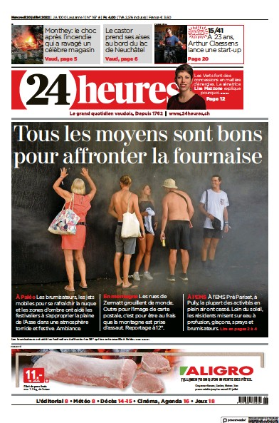 Read full digital edition of 24 Heures newspaper from Switzerland