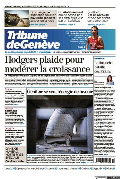 Read full digital edition of Tribune De Geneve newspaper from Switzerland