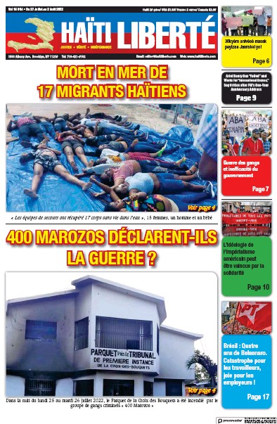 Read full digital edition of Haiti Liberte newspaper from Haiti