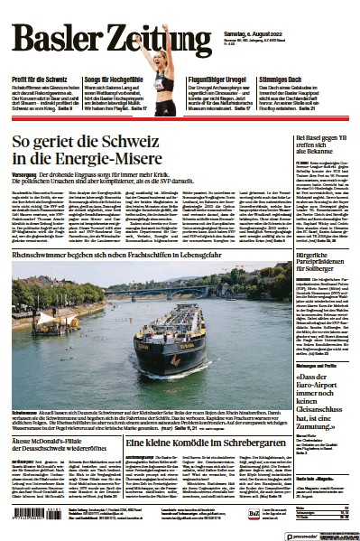 Read full digital edition of Basler Zeitung newspaper from Switzerland