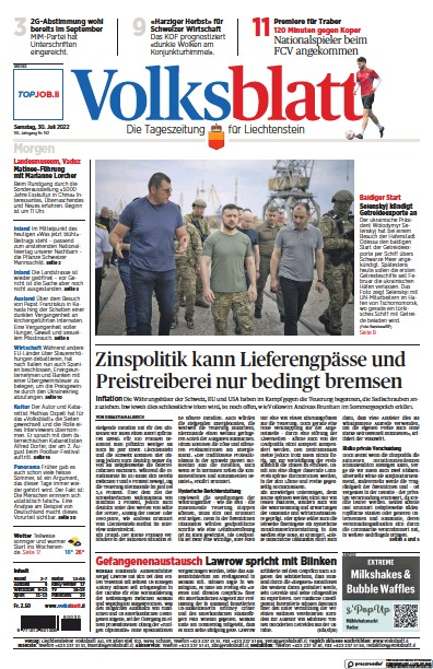 Read full digital edition of Liechtensteiner Volksblatt newspaper from Liechtenstein
