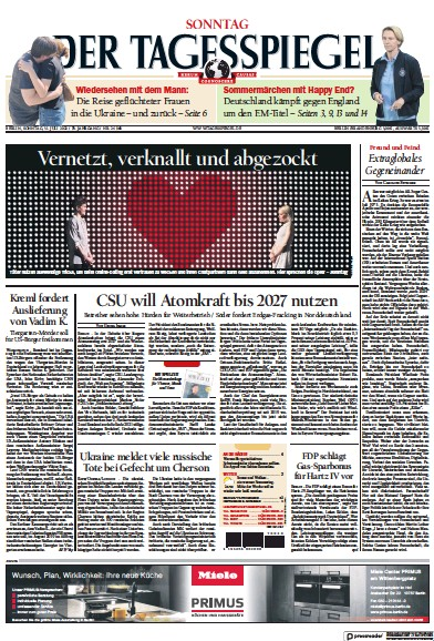Read full digital edition of Der Tagesspiegel newspaper from Germany