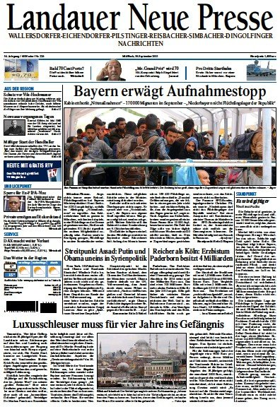Read full digital edition of Landauer Neue Presse newspaper from Germany