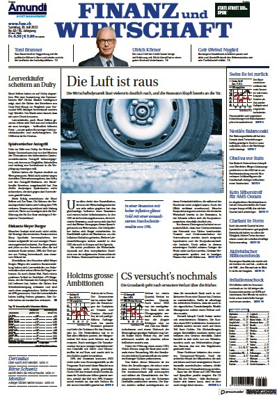 Read full digital edition of Finanz und Wirtschaft newspaper from Switzerland