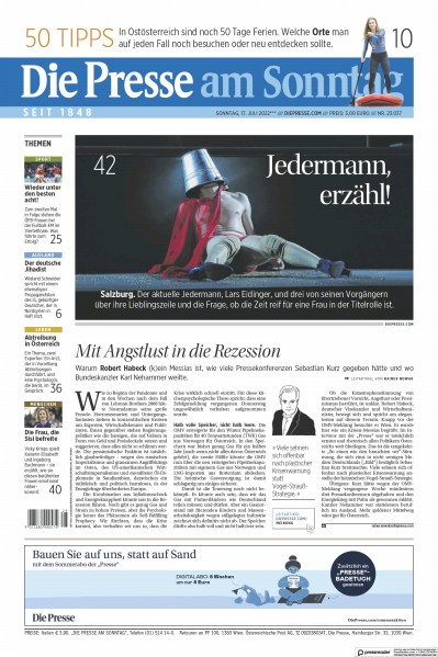 Read full digital edition of Die Presse am Sonntag newspaper from Austria