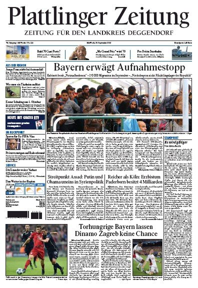 Read full digital edition of Plattlinger Zeitung newspaper from Germany