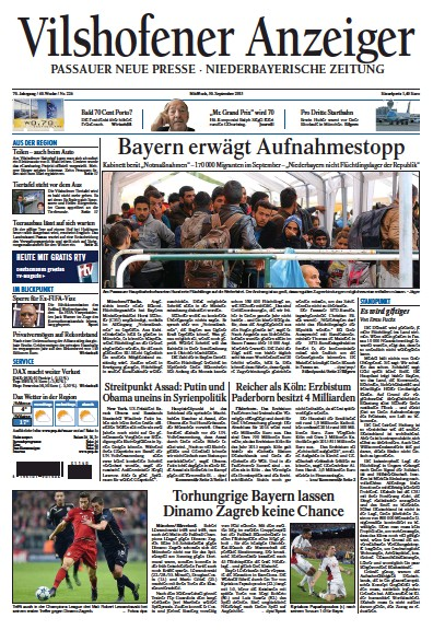 Read full digital edition of Vilshofener Anzeiger newspaper from Germany