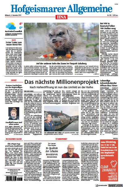 Read full digital edition of HNA Hofgeismarer Allgemeine newspaper from Germany