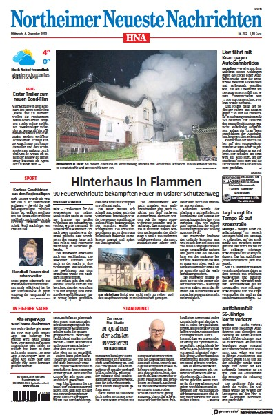 Read full digital edition of HNA Northeimer Neueste Nachrichten newspaper from Germany