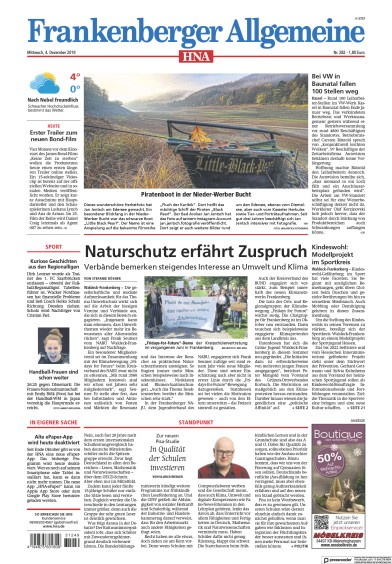 Read full digital edition of HNA Frankenberger Allgemeine newspaper from Germany