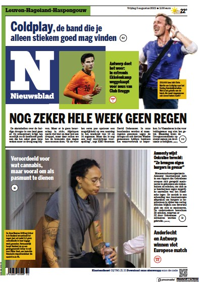 Read full digital edition of Het Nieuwsblad newspaper from Belgium