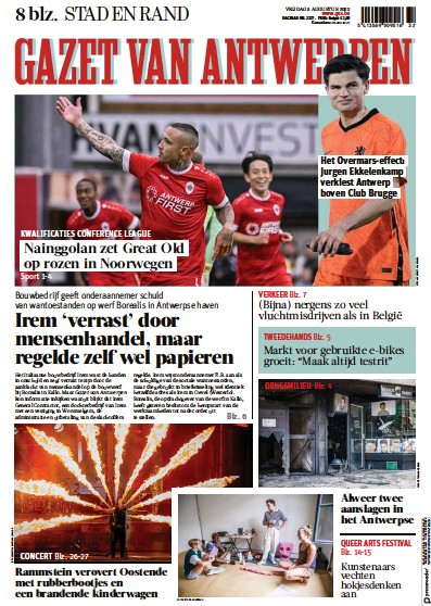 Read full digital edition of Gazet Van Antwerpen Metropool Stad newspaper from Belgium