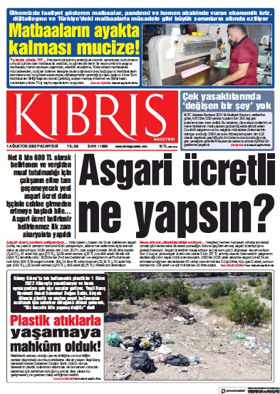Read full digital edition of Kibris Gazetesi newspaper from Northern Cyprus
