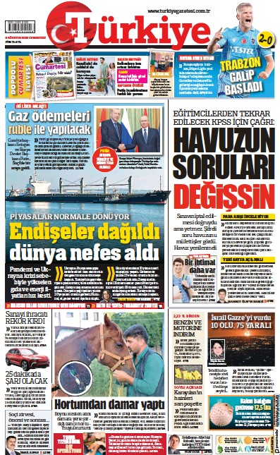 Read full digital edition of Turkiye newspaper from Turkey