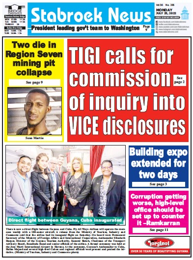 Read full digital edition of Stabroek News newspaper from Guyana
