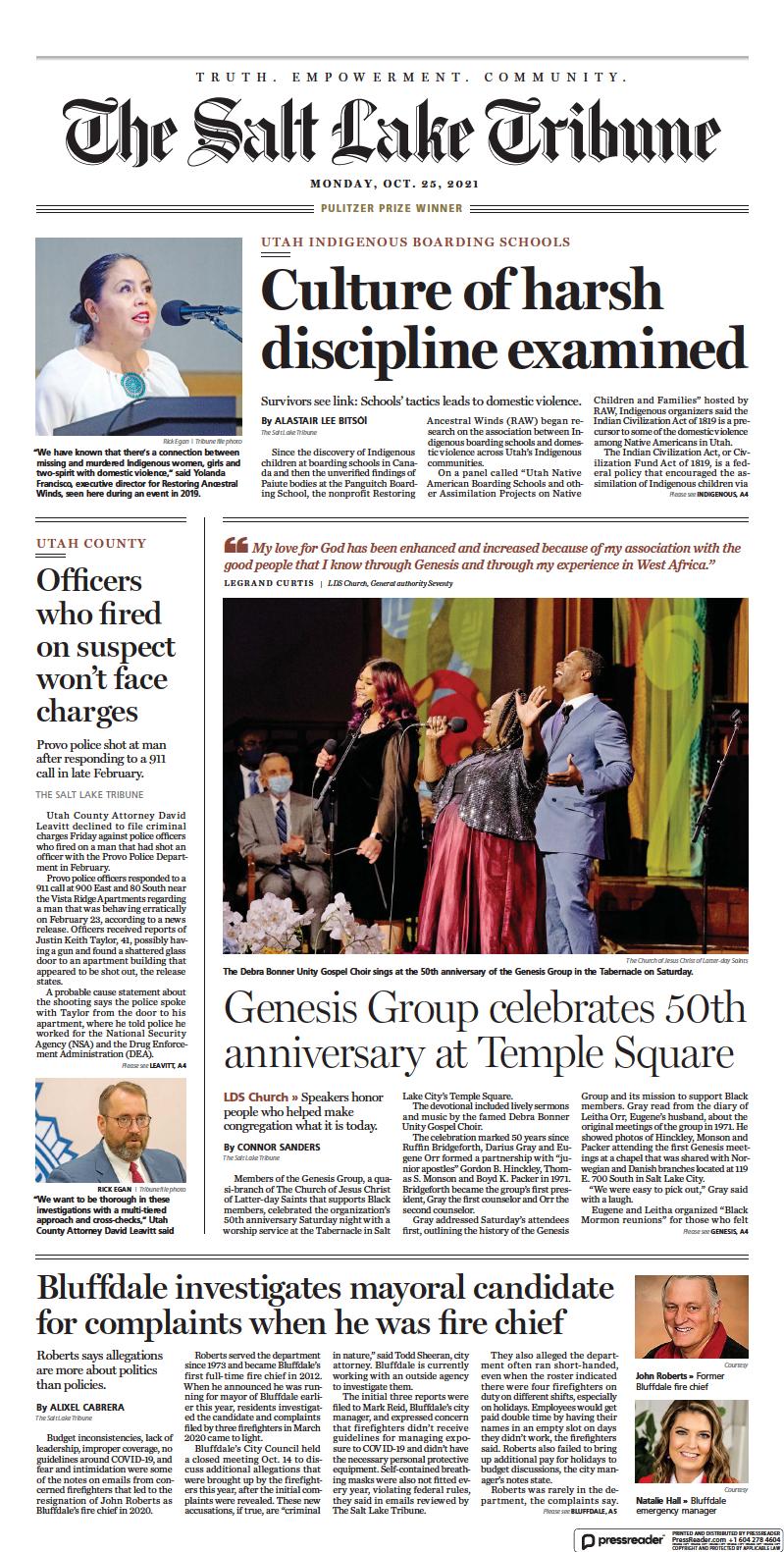 Click here to start reading The Salt Lake Tribune e-Edition