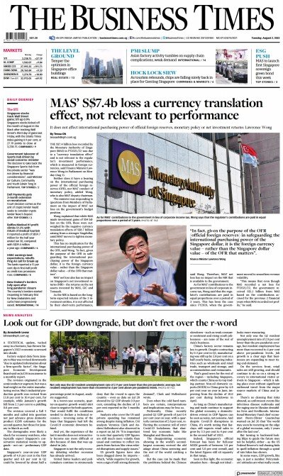 Read full digital edition of The Business Times newspaper from Singapore