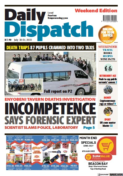 Read full digital edition of Daily Dispatch newspaper from South Africa