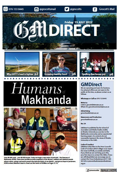 Read full digital edition of Grocott's Mail newspaper from South Africa