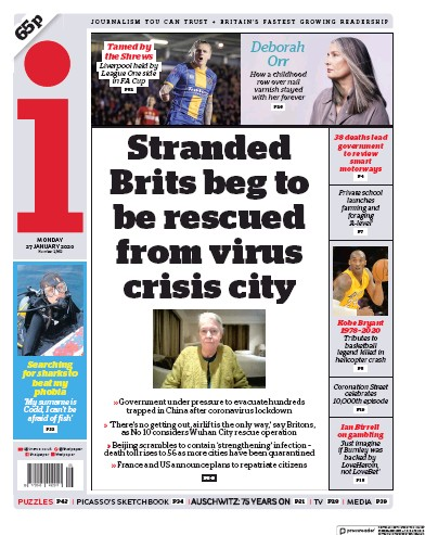 Read full digital edition of I Newspaper newspaper from UK