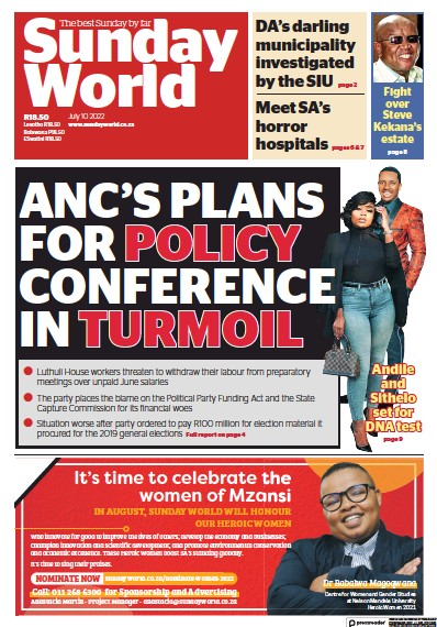Read full digital edition of Sunday World (South Africa) newspaper from South Africa