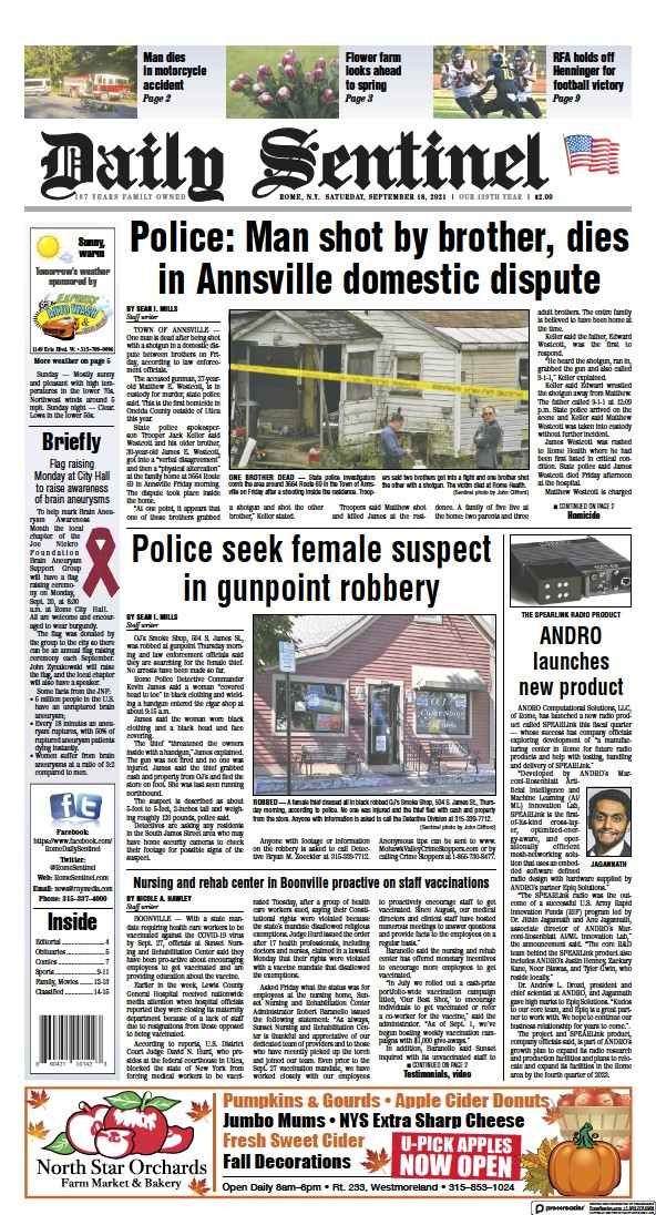 Daily Sentinel Today's Edition