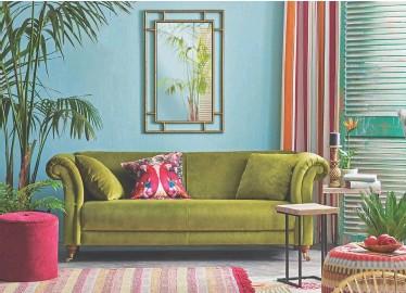 Where To Maya Sofa In Chartreuse Matt Velvet 750 Berry Drum 50 Mirror 155 Mirrored Parrot Cushion 14 All Next