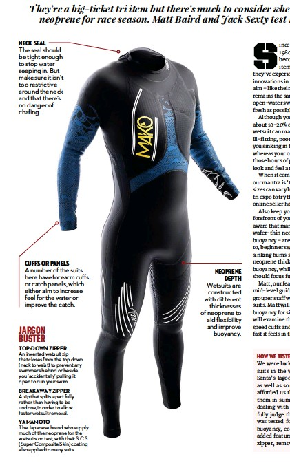 6ca54162bb Wetsuits are constructed with different thicknesses of neoprene to aid  flexibility and improve buoyancy. neoprene depth cuffs or panels A number  of the ...